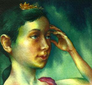 Pequeña Bailarina (La hija del Pintor) After Gainsborough