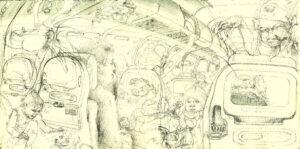 Vuelo AV9775 destino a Bogotá (dibujo primigenio)